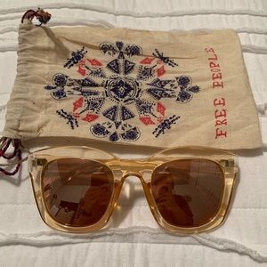 Free People clear pink sunglasses
